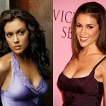Alyssa Milano Boob Job Before and After Photos