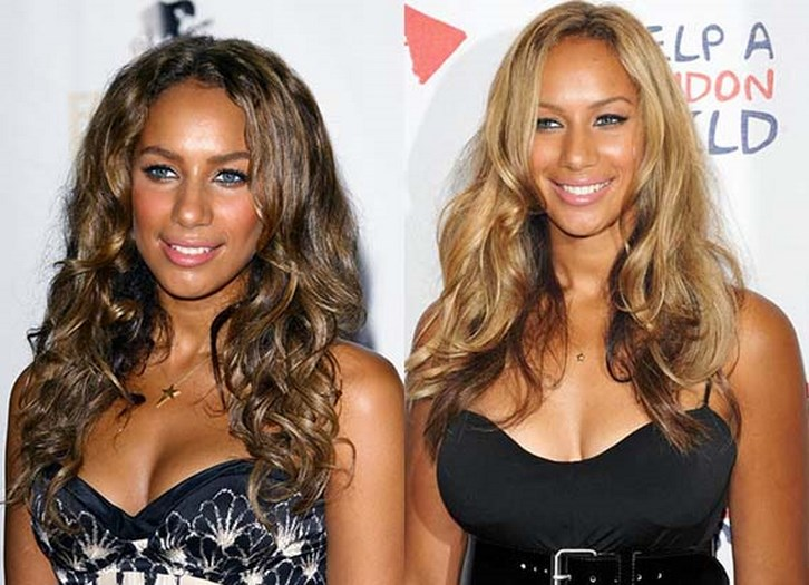 Leona Lewis Nose Job Pictures Before and After