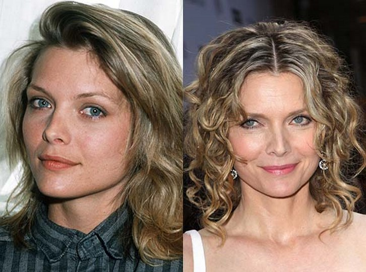 Michelle Pfeiffer Plastic Surgery Nose Job Before and After Photos