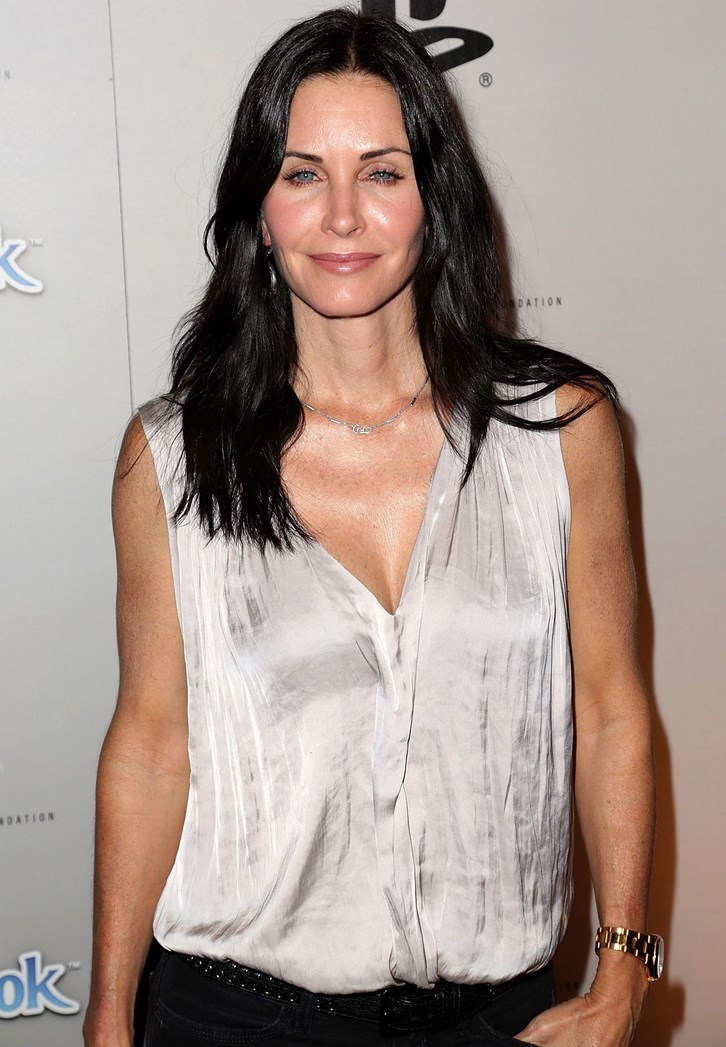 Courtney Cox Breast Augmentation Before and After